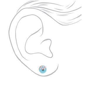 Glitter Café Stud Earrings - 3 Pack,