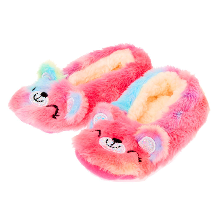fast delivery detailed images exclusive deals sugar the bear rainbow slippers