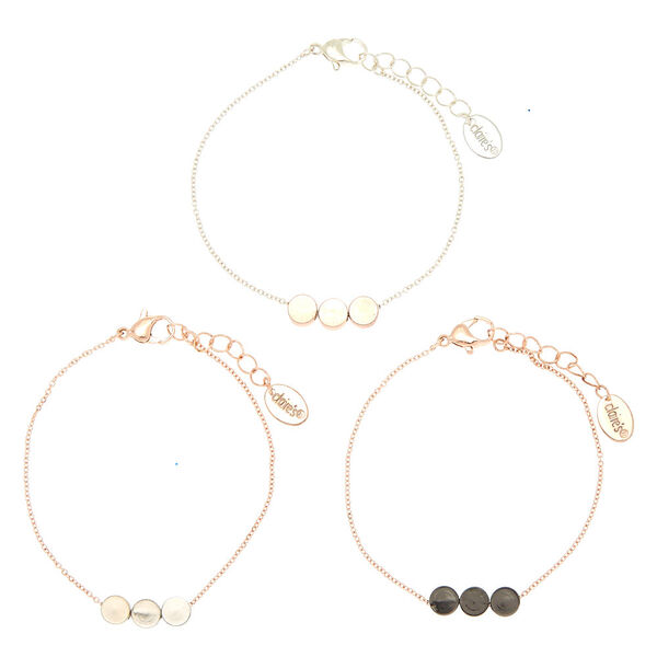Claire's - mixed metal disk chain bracelets - 2