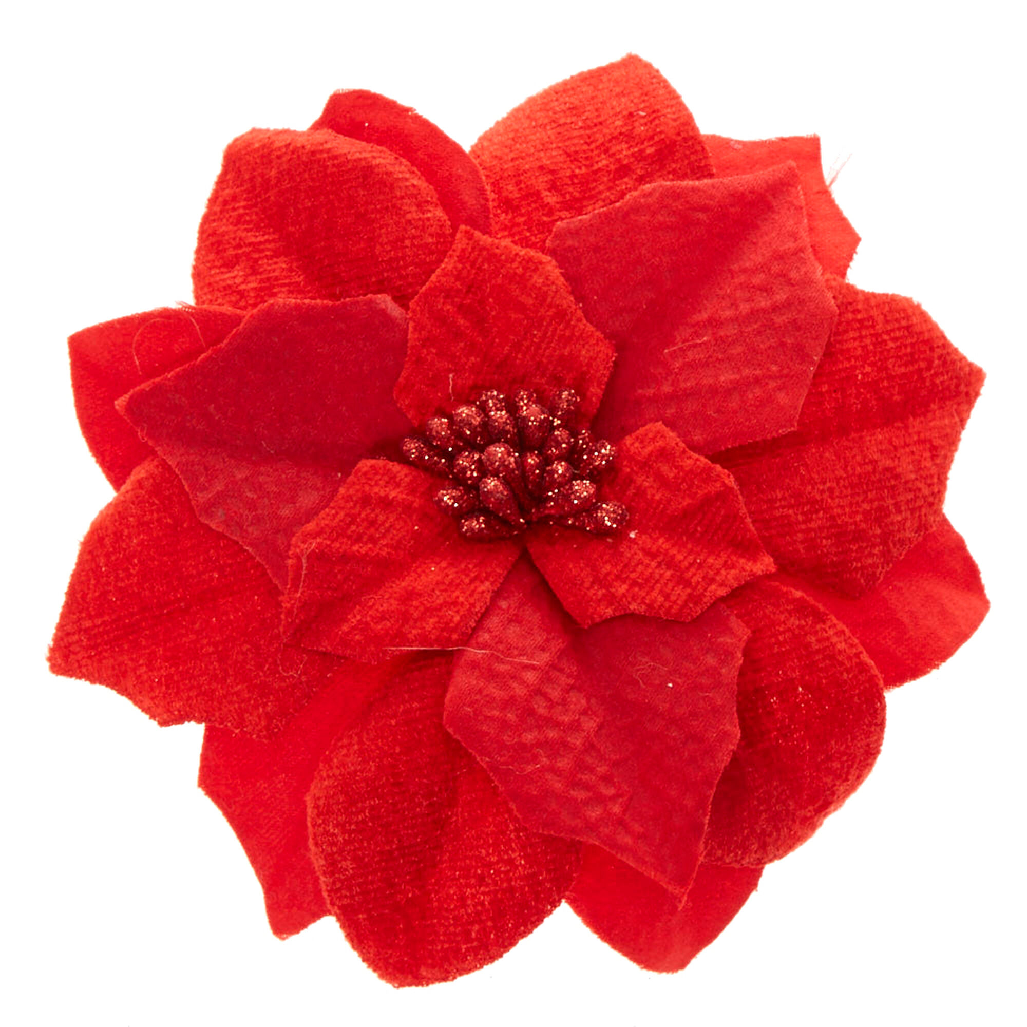 Red Poinsettia Flower Hair Clip | Claire\'s US
