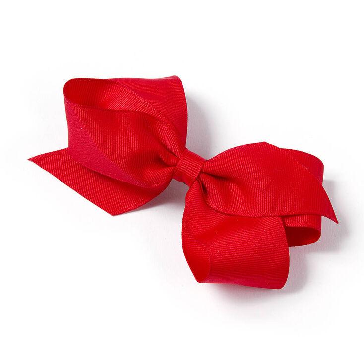 Kids Red Ribbon Bow Hair Clip  019998823b6