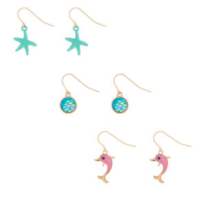 "1"" Tropical Drop Earrings - 3 Pack,"