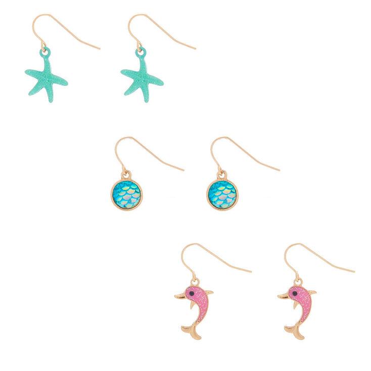 """1"""" Tropical Drop Earrings - 3 Pack,"""