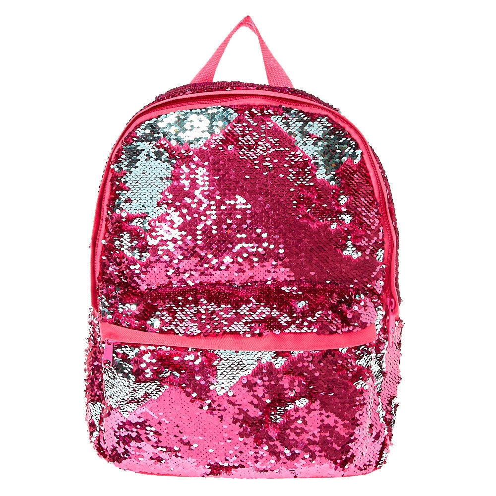 Reversible Pink To Mint Sequin Backpack |