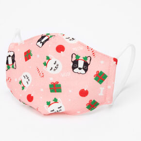 Cotton Holiday Dog and Cat Print Face Masks - Child Small,