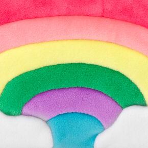 Rainbow Plush Makeup Bag - Pink,