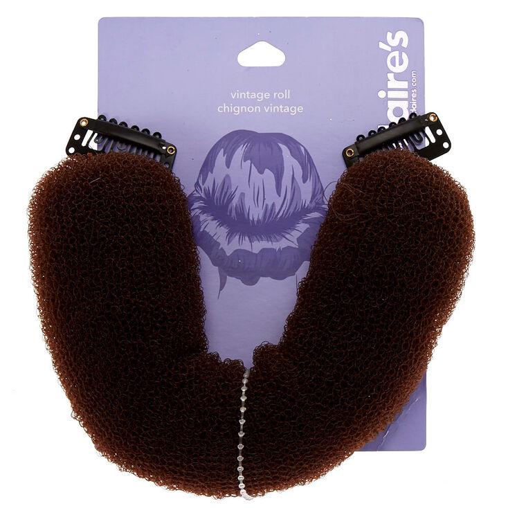 Kit d'accessoires pour chignon vintage - Cheveux bruns,