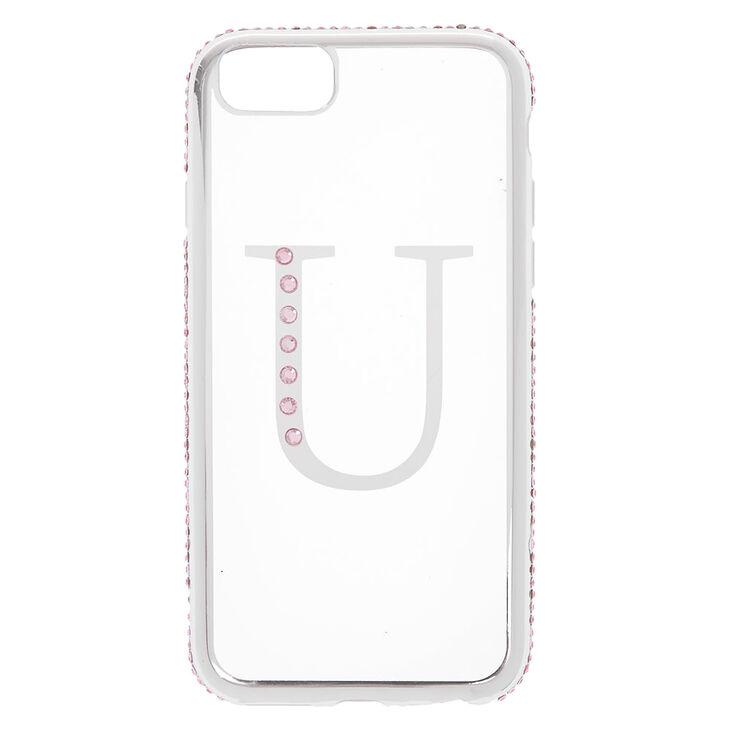 Pink Stone U Initial Phone Case - Fits iPhone 6/7/8/SE,
