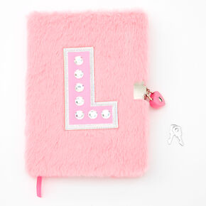 Giant Initial Furry Lock Diary - L,