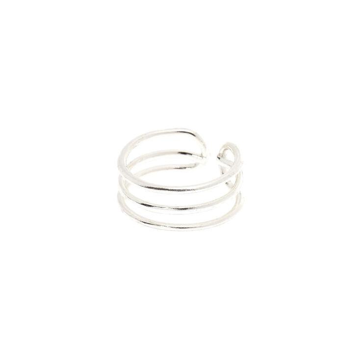 Silver Triple Band Ear Cuff,