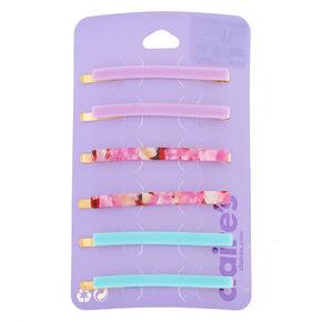 Cotton Candy Tortoiseshell Hair Pins - 6 Pack,