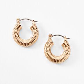 Gold 20MM Spiral Hoop Earrings,