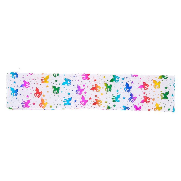 Rainbow Unicorn Headwrap - White,