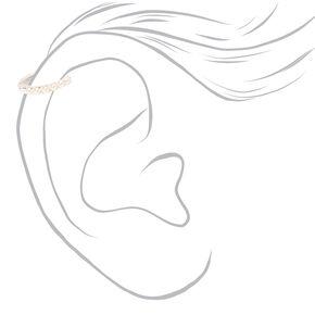 Sterling Silver 22G Pearl Helix Hoop Earring,