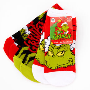 Dr. Seuss™ The Grinch No Show Socks - 3 Pack,
