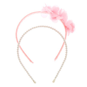 Claire's Club Pearl Headbands - Pink, 2 Pack,