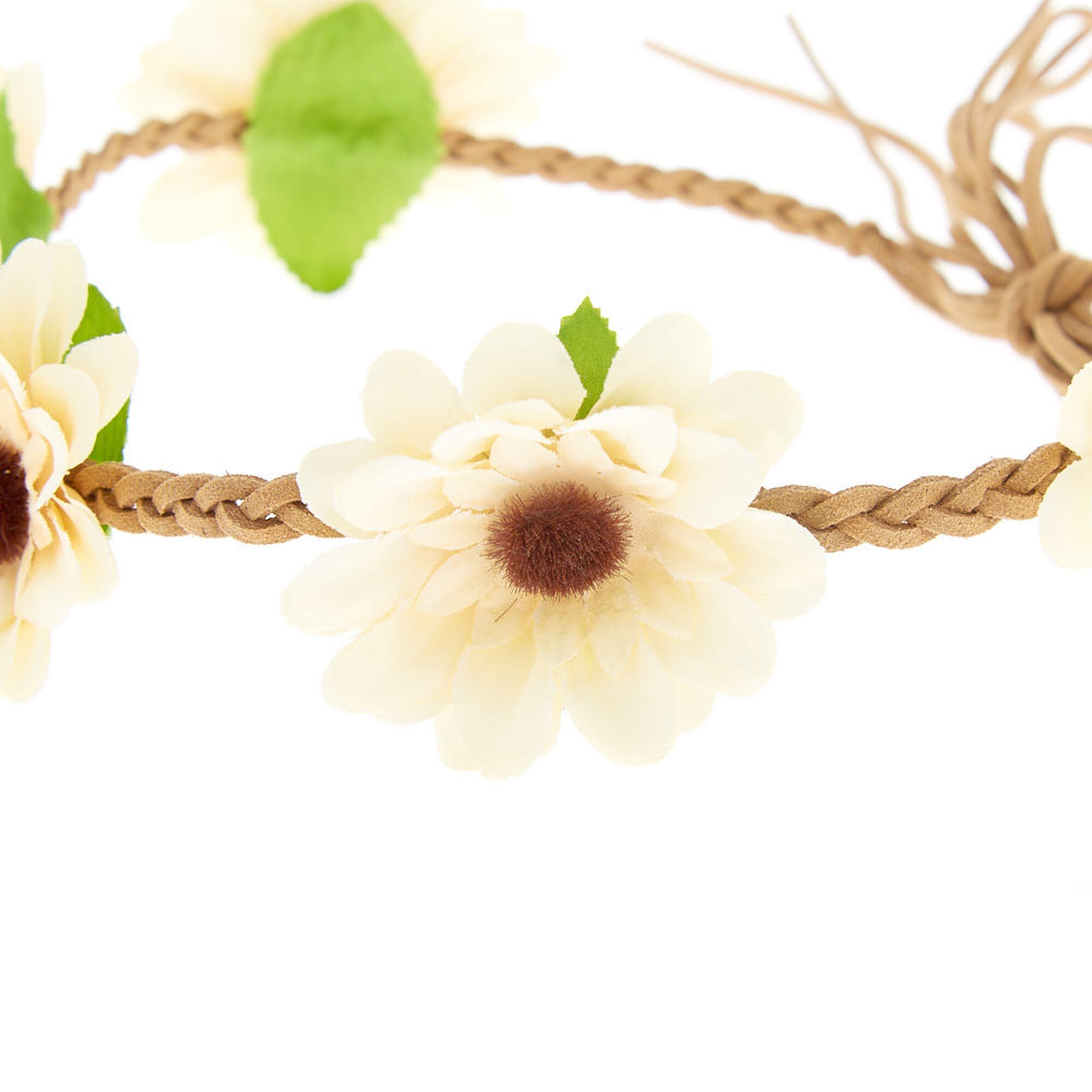 ... Daisy Braided Flower Crown Headwrap - Yellow f1172c36883