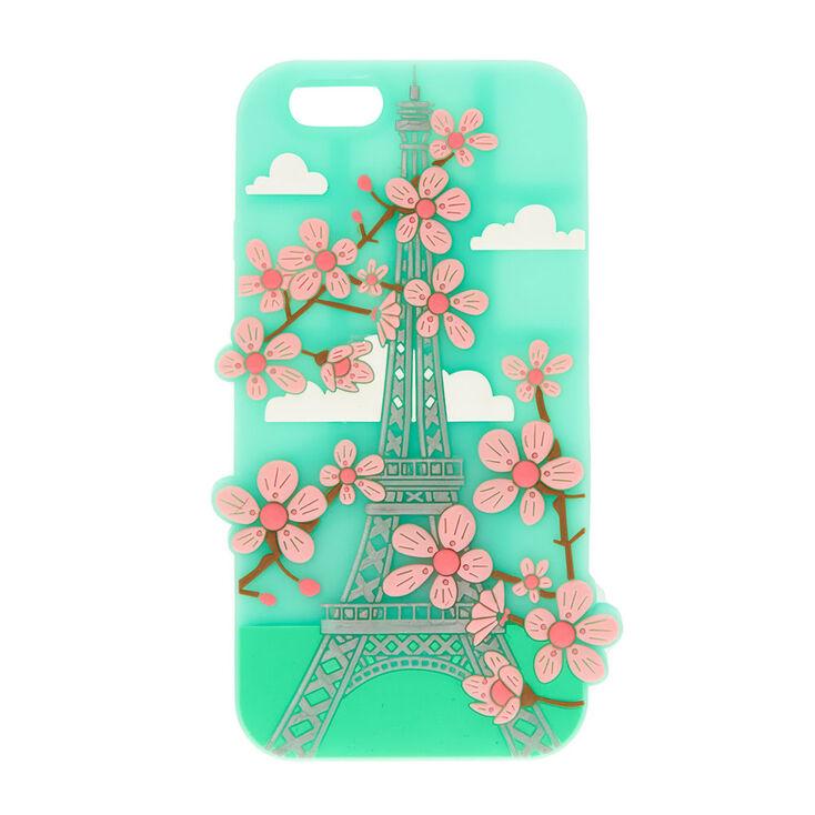 ecb54c25487b Mint Green Eiffel Tower Cherry Blossom Phone Case