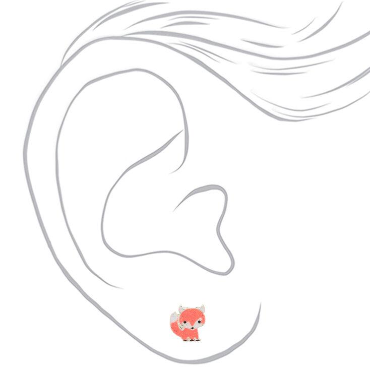 Fox Glitter Stud Earrings,