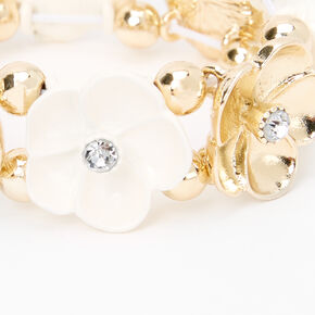 Claire's Club Gold Flower Stretch Bracelet,