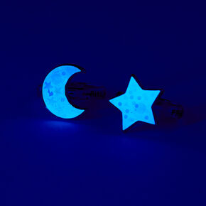 Best Friends Glow in the Dark Moon and Star Rings - 2 Pack,