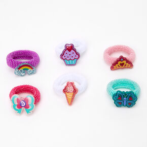 Love, Diana™ Glitter Charm Hair Ties – 6 Pack,