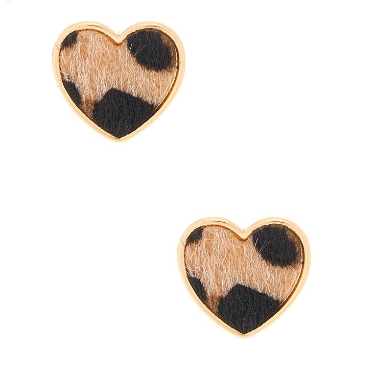 Claire/'s Girl/'s Gold Glitter Heart Clip On Earrings
