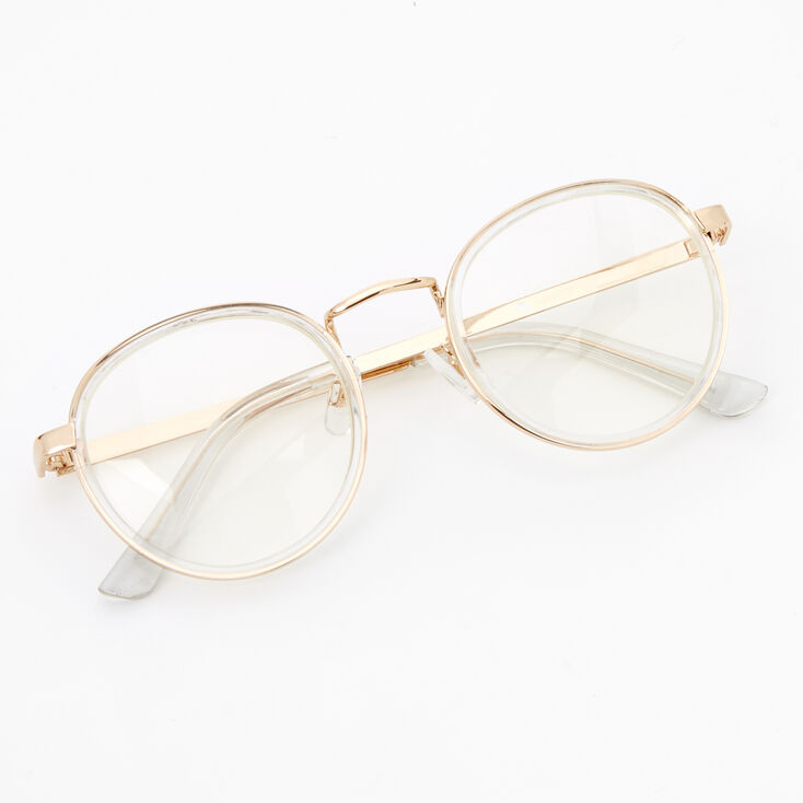 Gold Round Clear Lens Frames,