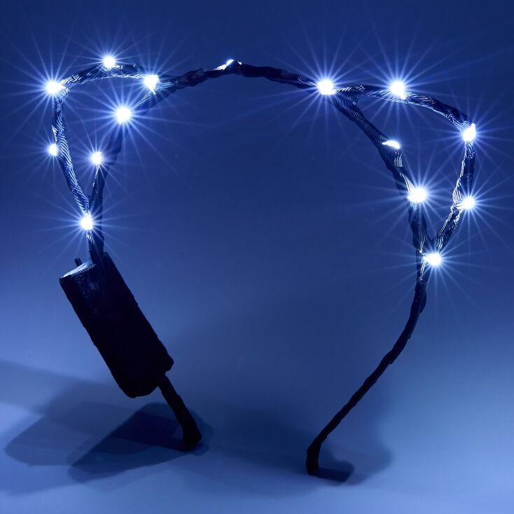 Light Up Cat Ears Headband - Black,