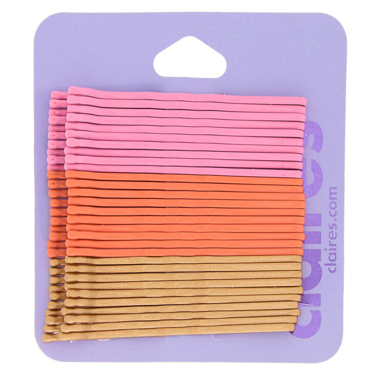 Sunset Bobby Pins - Pink, 30 Pack,