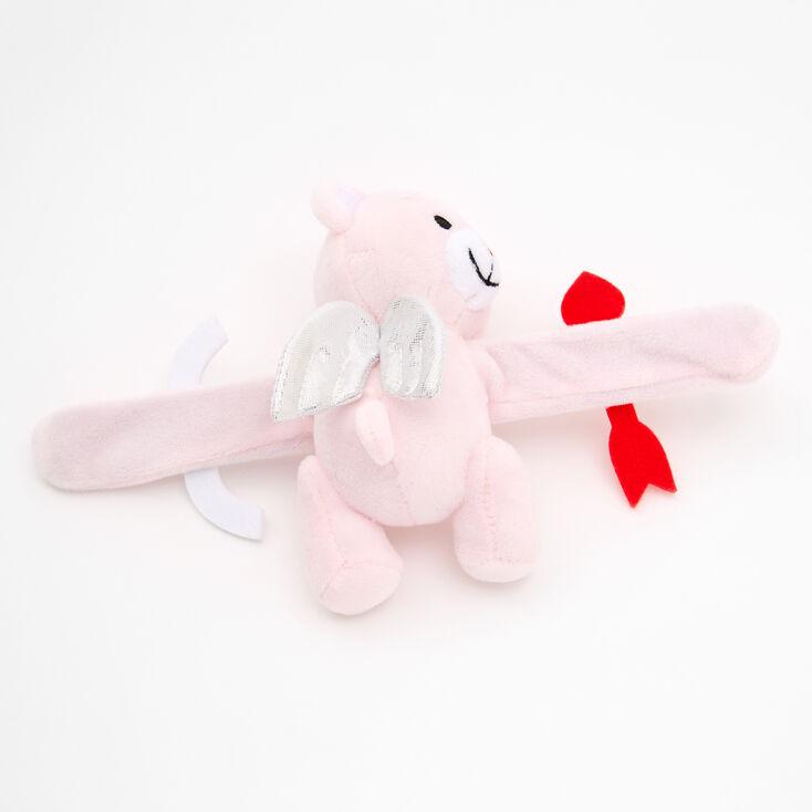 Bracelet enrouleur ours cupidon huggie - Rose,