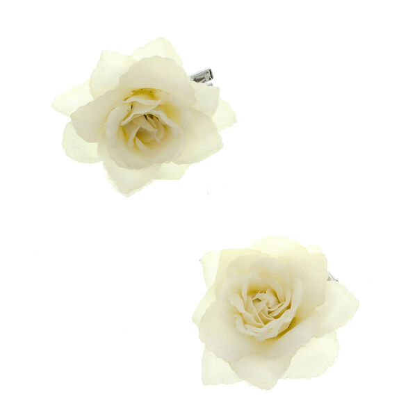 Claire's - mini rose hair clips - 1
