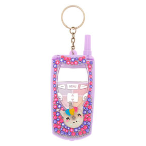 Unicorn Donut Bling Flip Phone Lip Gloss Set - Purple,