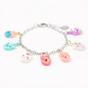 Silver Unicorn Donut Charm Bracelet,