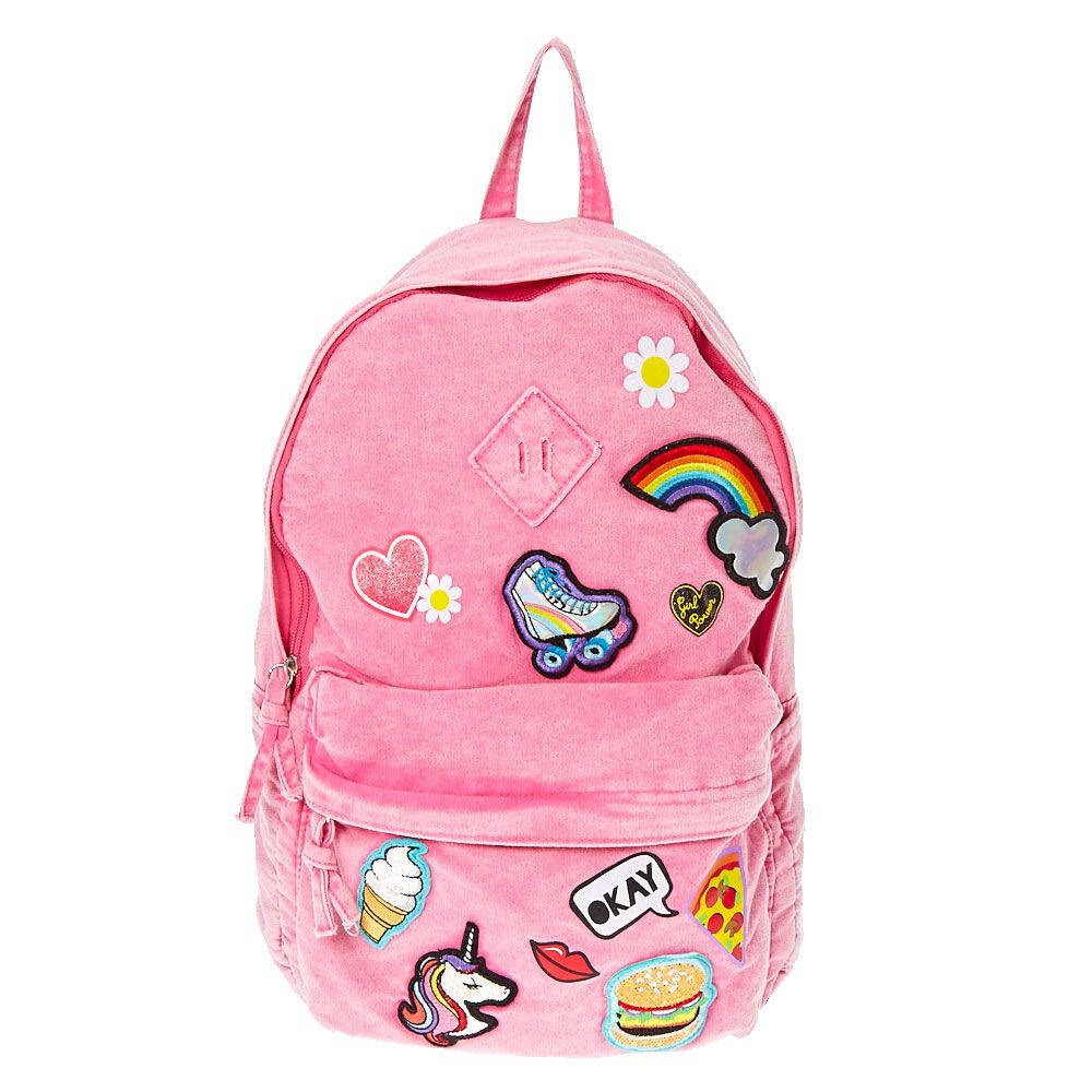 d9592c9fbdf7 Pink emoji sticker backpack claires jpg 2000x2000 Pink jordan backpacks for  girls