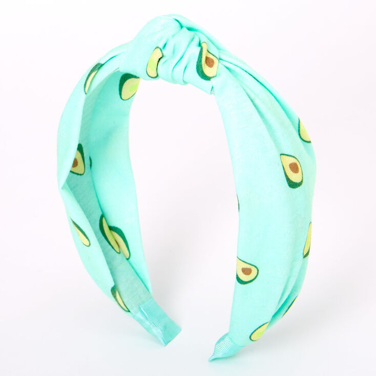 Avocados Knotted Headband - Mint,