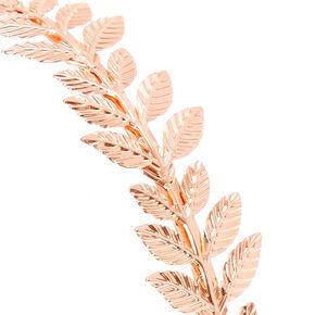 Rose Gold Leaf Headband,