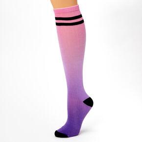 Ombre Knee High Socks - Pink,