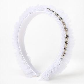 Lot épingles à cheveux et serre-tête en tulle avec perles d'imitation et strass Claire'sClub - Lot de 3,