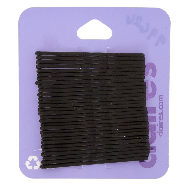 Lot de 30épingles plates plates noir mat,