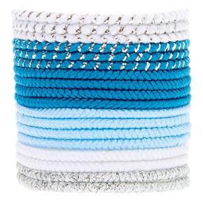 Claire's Club Mini Hair Bobbles - Blue, 18 Pack,