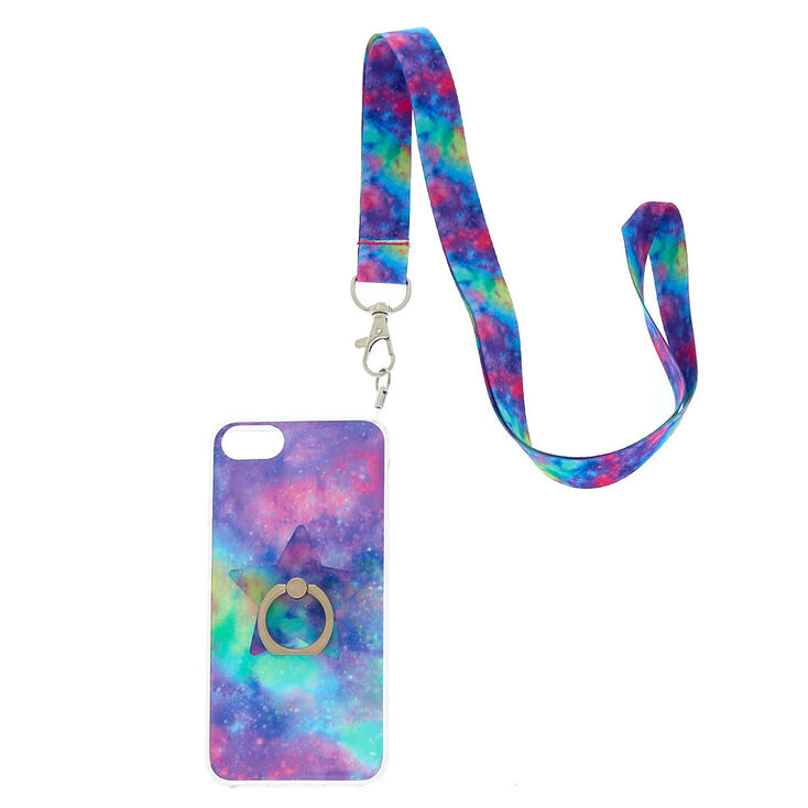 check out 68d20 74187 Galaxy Ring Stand Phone Case with Lanyard - Fits iPhone 6/7/8