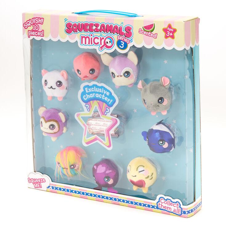 10-Pack Styles//Assortments Vary Squeezamals Micro Plush /'Series 3/'