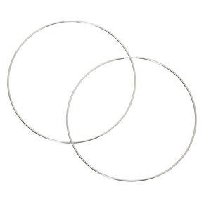 Silver 100MM Hoop Earrings,
