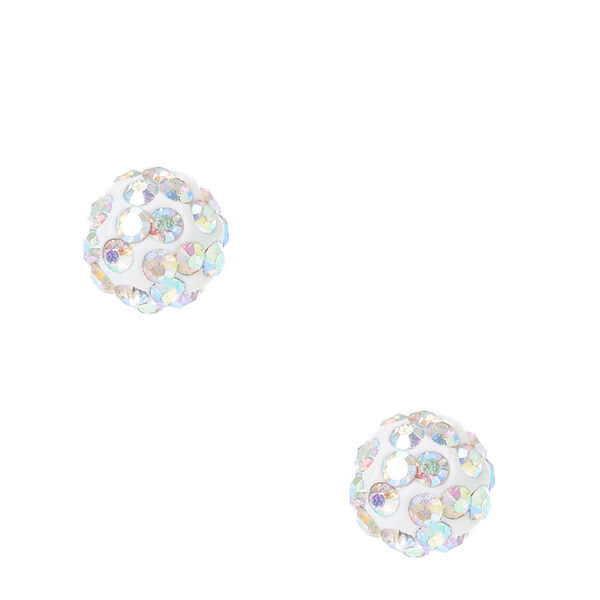 Claire's - iridescent fireball stud earrings - 1