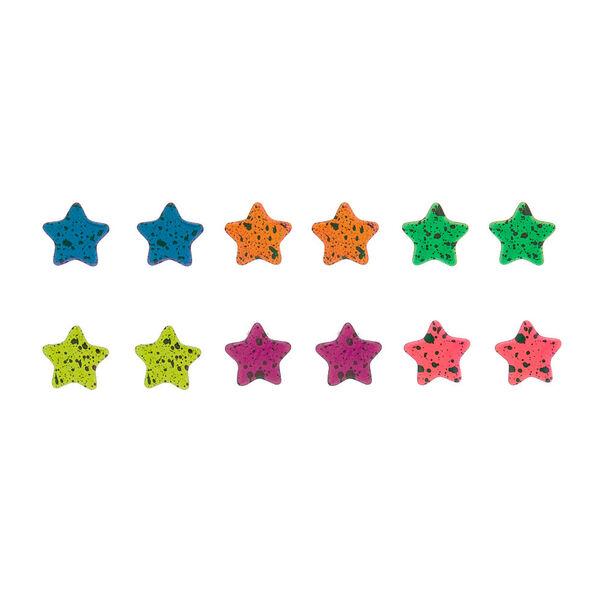 Claire's - rainbow star splatter stud earrings set - 1