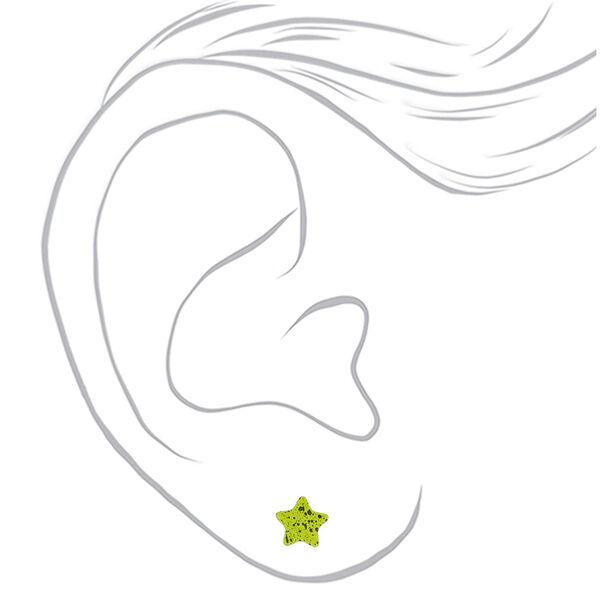 Claire's - rainbow star splatter stud earrings set - 2