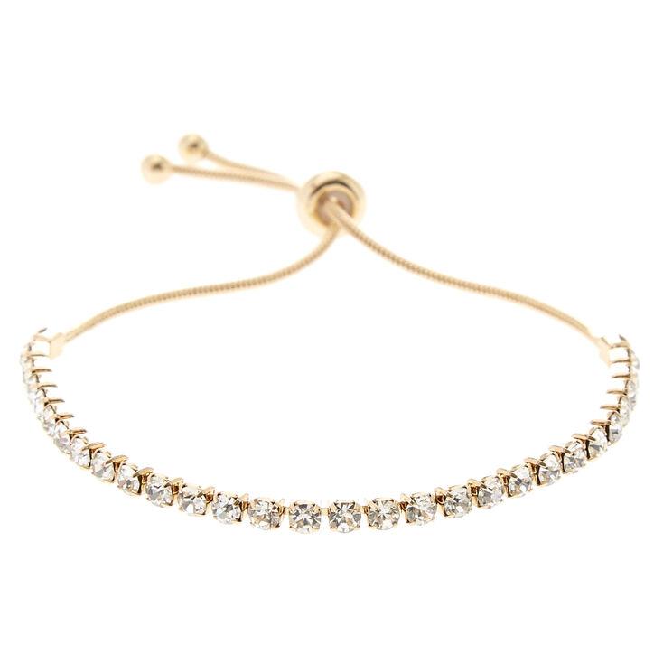 Gold Rhinestone Adjustable Bracelet,