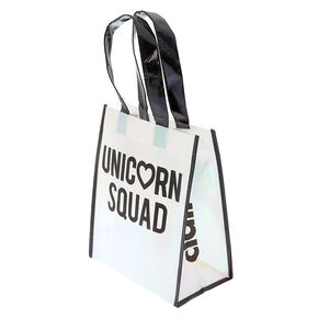 Holographic Unicorn Squad Tote Bag,