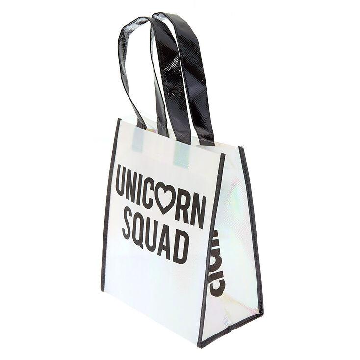 Holographic Unicorn Squad Tote Bag,